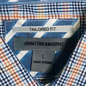Johnston & Murphy Shirts - Johnston and Murphy tailored windowpane shirt L